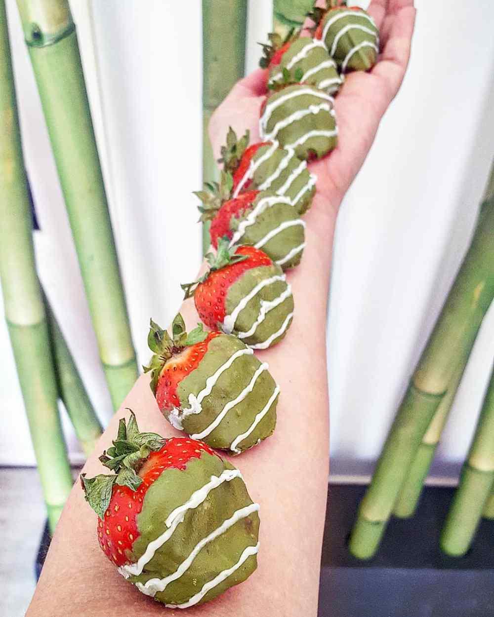 matcha aardbeien